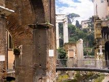 马塞勒斯剧院和罗马Fishmarket在罗马意大利 图库摄影