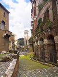 马塞勒斯剧院在罗马意大利 库存图片