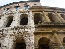 马塞勒斯古老露天剧场在罗马 免版税库存照片