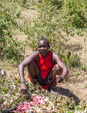 马塞语玛拉,肯尼亚,非洲2月12日马塞人人是 库存照片