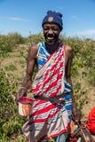 马塞语玛拉,肯尼亚,非洲- 2010年2月12日 免版税库存图片