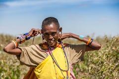 马塞语玛拉,肯尼亚,非洲- 2010年2月12日 图库摄影