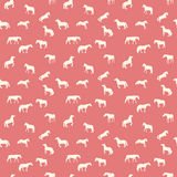 马奔跑,蛇麻草,疾驰被隔绝 无缝 免版税库存图片