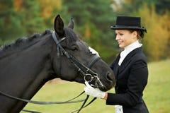 马女骑士骑师统一 库存图片