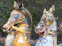 马寺庙, Chettinadu,印度 库存照片