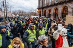 马尔什倾倒Le Climat行军在法国stre之上的抗议示范 免版税库存照片