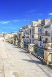 马尔他街景画在比尔古,马耳他 库存照片