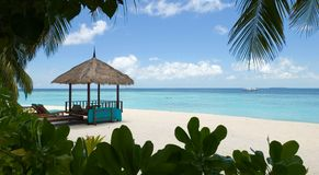 马尔代夫海景 免版税库存图片