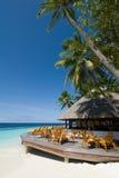 马尔代夫海景 库存图片