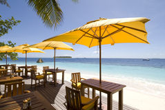 马尔代夫海景 库存照片