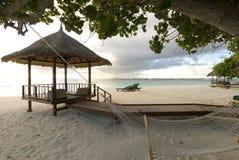 马尔代夫海景 图库摄影