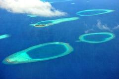 马尔代夫环礁 免版税库存图片