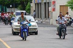 马尔代夫男街道 免版税库存照片