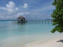 马尔代夫码头 库存图片