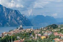 马尔切西内- Lago Di加尔达 免版税库存图片