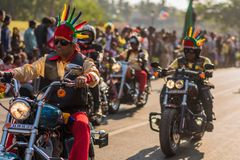 马尔加奥,果阿/印度2018年2月12日:狂欢节庆祝在果阿,印度 免版税图库摄影