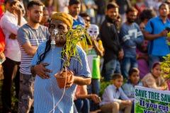 马尔加奥,果阿/印度2018年2月12日:狂欢节庆祝在果阿,印度 库存图片