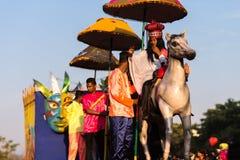 马尔加奥,果阿/印度2018年2月12日:狂欢节庆祝在果阿,印度 免版税库存照片
