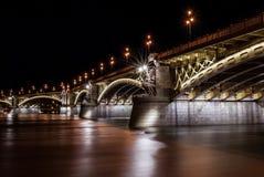 马尔吉特桥梁在布达佩斯 图库摄影
