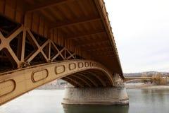 马尔吉特桥梁在布达佩斯 免版税图库摄影