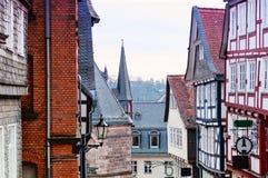 马尔堡历史的街道  德国 免版税库存照片