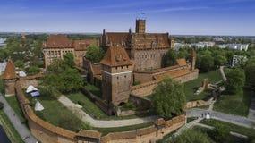 马尔堡在Nogat的一座强有力的条顿人城堡从概略的看法 库存图片