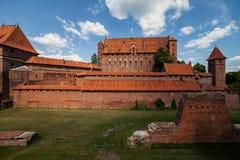 马尔堡城堡在波兰 免版税图库摄影