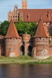 马尔堡城堡Fortificaitons 免版税库存图片