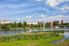 马尔堡河视图城市 免版税库存照片