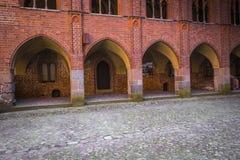 马尔堡,波兰- 2017年4月01日:马尔堡加州美丽如画的场面  库存图片