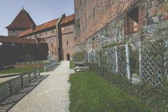 马尔堡,波兰- 2017年4月01日:马尔堡加州美丽如画的场面  免版税图库摄影