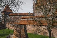 马尔堡,波兰- 2017年4月01日:马尔堡加州美丽如画的场面  图库摄影