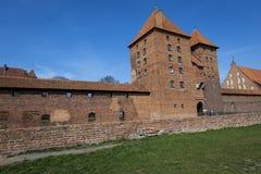 马尔堡,波兰- 2017年4月01日:马尔堡加州美丽如画的场面  免版税库存照片