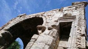 马尔库斯・奥列里乌斯163公元曲拱  图库摄影