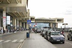 马尔彭萨机场在米兰 伦巴第 意大利 免版税库存图片