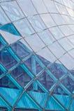 马尔摩商场蓝色门面 库存图片