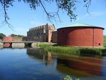 马尔摩城堡或Malmohus slott在马尔摩,南瑞典 图库摄影