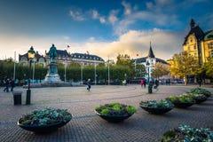 马尔摩- 2017年10月22日:马尔摩,瑞典的历史的中心 库存照片