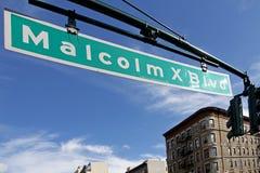 马尔科姆X大道,哈林 免版税图库摄影