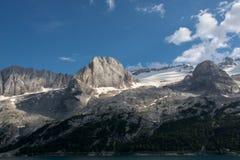 马尔莫拉达山,意大利冰川  库存照片