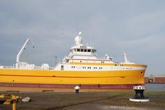 马尔韦利亚渔冷冻机船身英国 图库摄影