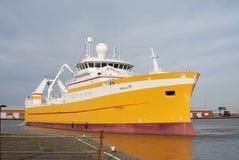 马尔韦利亚渔冷冻机船身英国 库存照片