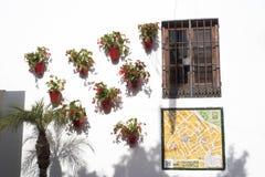 马尔韦利亚老镇太阳海岸的安达卢西亚,西班牙 图库摄影