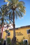 马尔韦利亚老镇太阳海岸的安达卢西亚,西班牙 库存照片