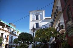 马尔韦利亚老镇太阳海岸的安达卢西亚,西班牙 免版税图库摄影