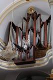 马尔韦利亚, ANDALUCIA/SPAIN - 7月6日:器官在教会里  免版税库存图片