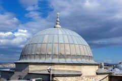 马尔马拉海和Bosphorus Suleymaniye清真寺,伊斯坦布尔看法, 库存照片