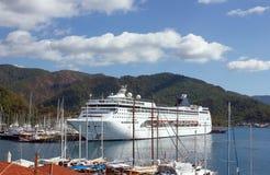 马尔马里斯港小游艇船坞,土耳其 免版税库存照片