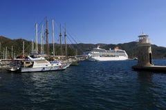 马尔马里斯港小游艇船坞 免版税库存照片