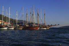 马尔马里斯港小游艇船坞 库存照片